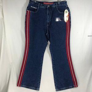 Revolt Fit & Flair Striped leg Jeans